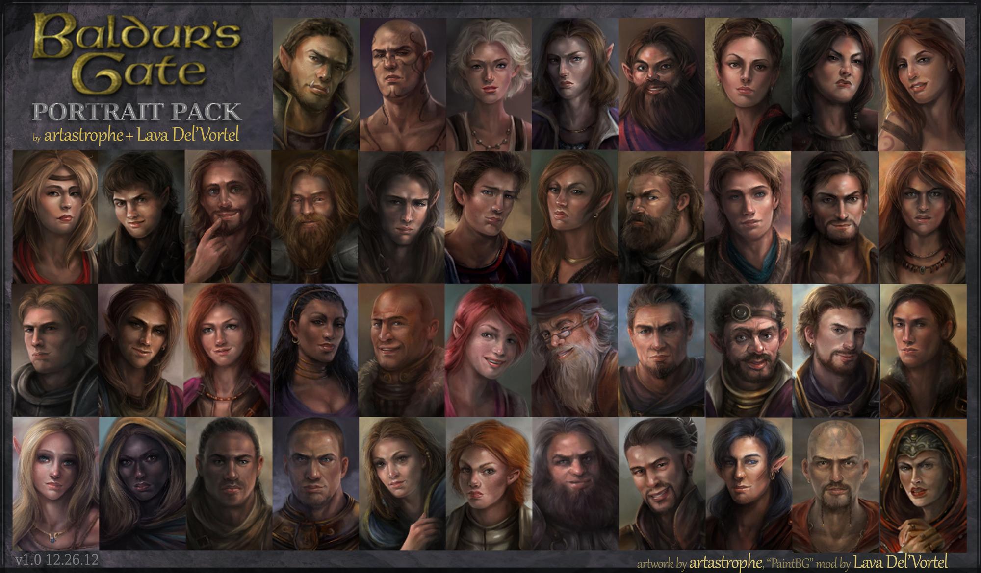 Baldur's Gate NPC Portraits