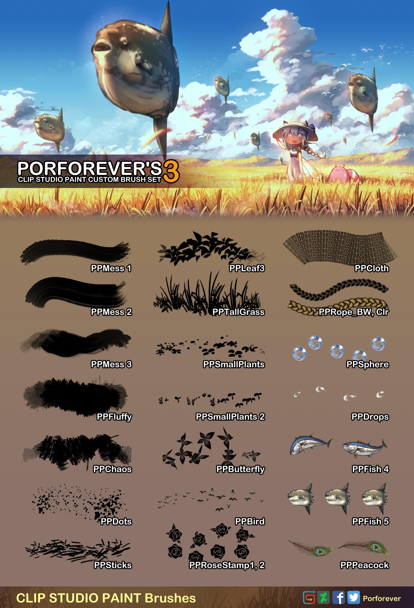 Porforever Custom Brush Set3