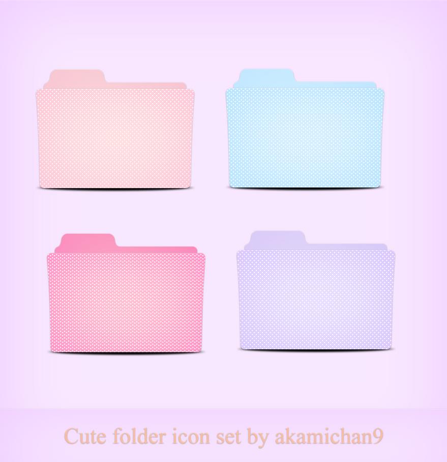Cute Folder Icon Set By Akamichan9 On Deviantart