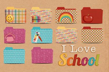 School folder icon pack by akamichan9