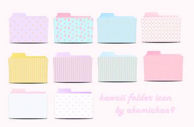Cute Folder Icon Set By Akamichan9 by akamichan9