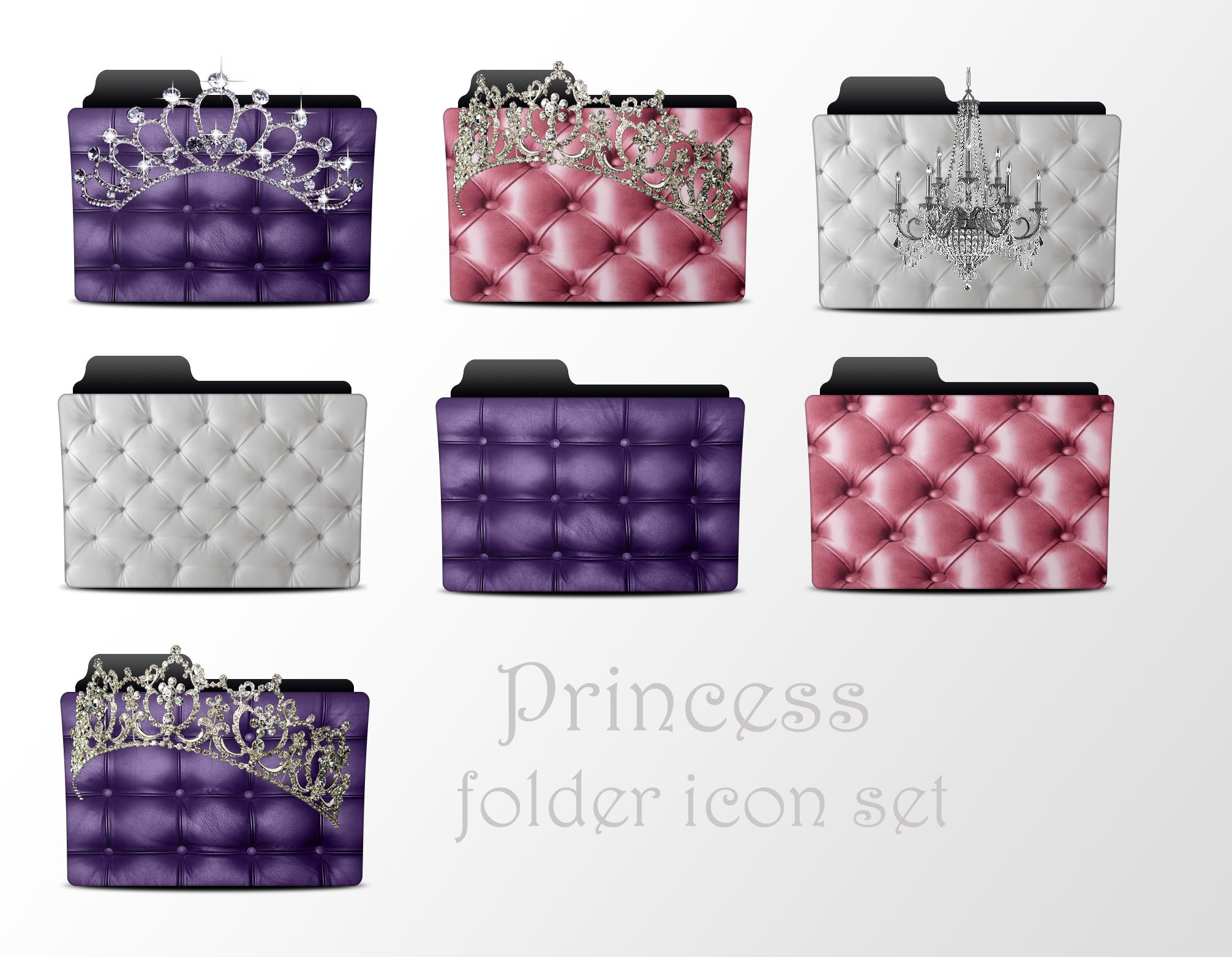 Princess Folder Icon Set by akamichan9