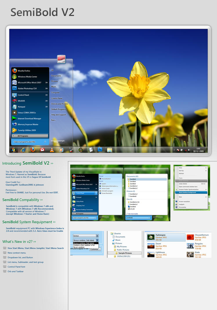 Windows 7 theme SemiBold V2