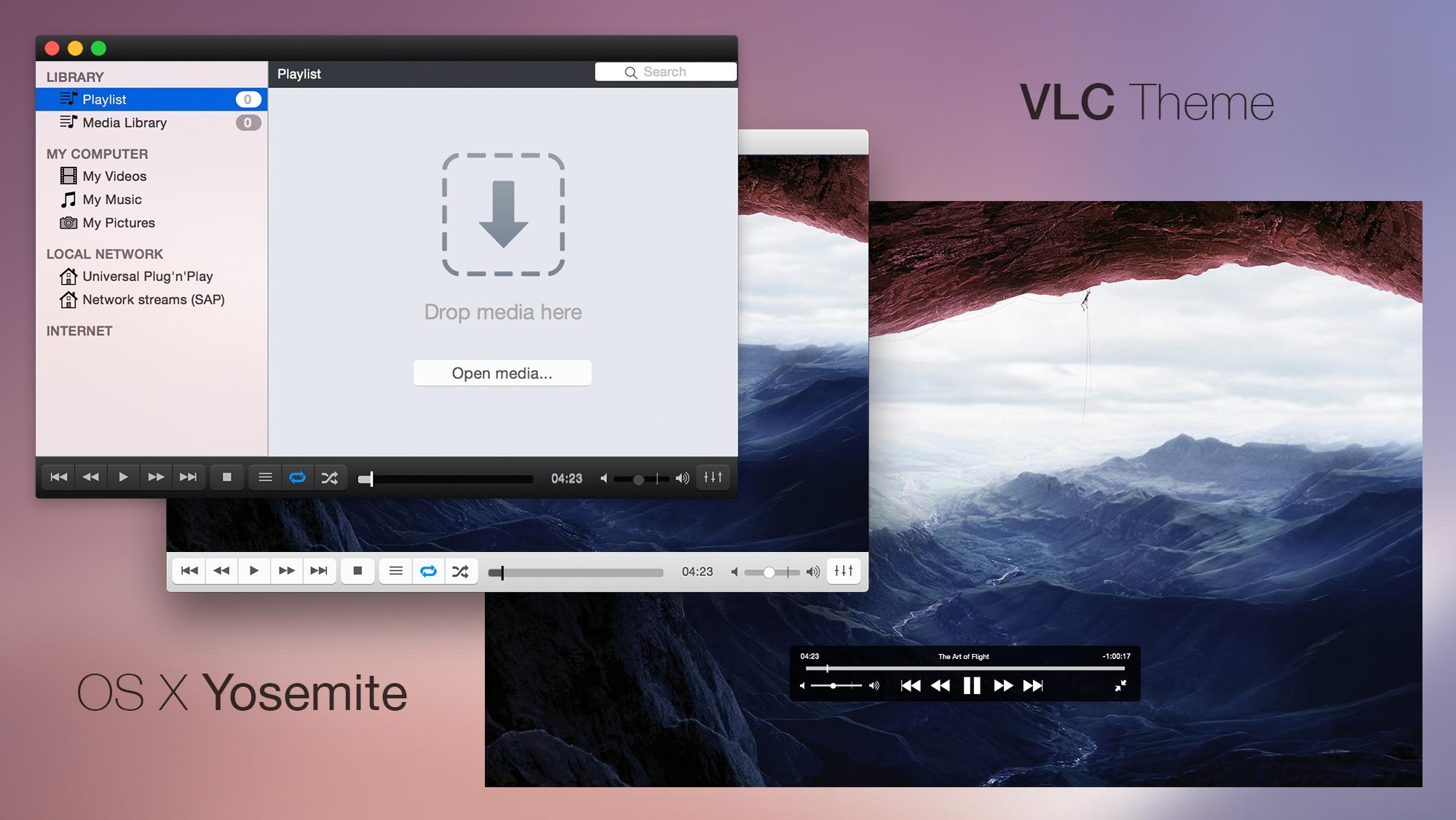 VLC Theme (OS X Yosemite)
