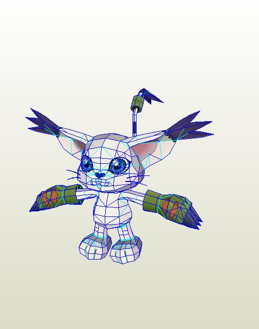 DigiPaperMon Gatomon by PapercraftKing