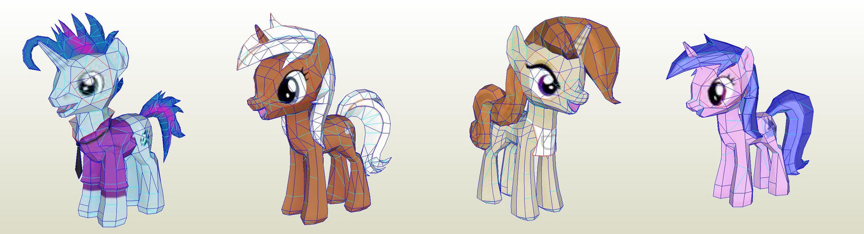 MLP Gameloft Class Acts by PapercraftKing