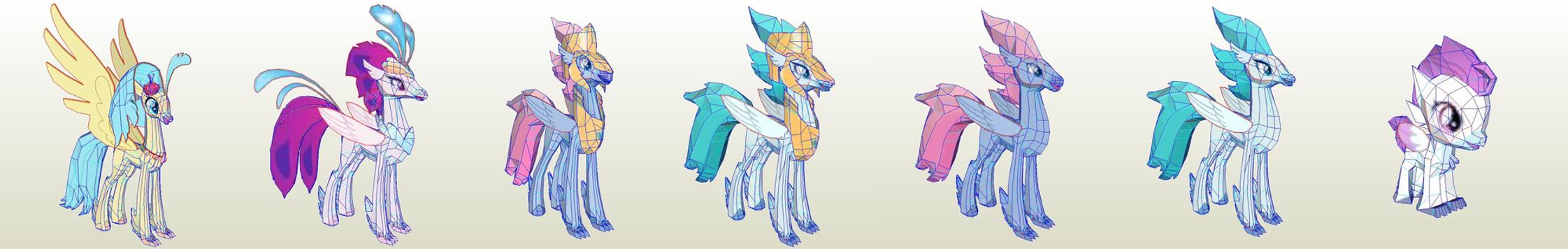 MLP Gameloft Regal Hippogriffs by PapercraftKing