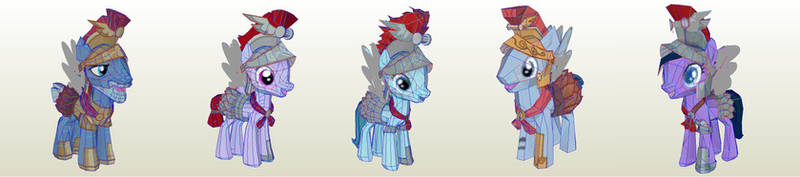 MLP Gameloft Legends of Equestria Rome Pegasus by PapercraftKing
