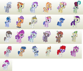 MLP Gameloft Foals by PapercraftKing