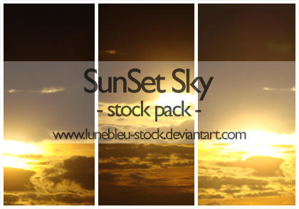 Sunset sky pack by LuneBleu-Stock