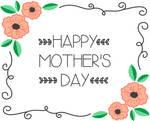 Floral Border Mother's Day Card