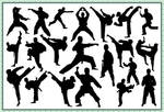 21 Taekwondo Silhouette Brushes for Photoshop