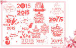 Beautiful 2015 Happy New Year Brushes