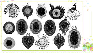 15 Peacock Clock Brushes
