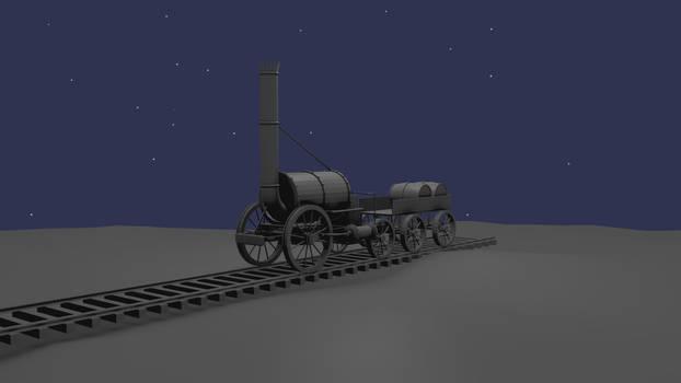 Steam Locomotive Final Render