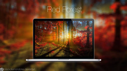 Red Forest by BlackDiamondOne