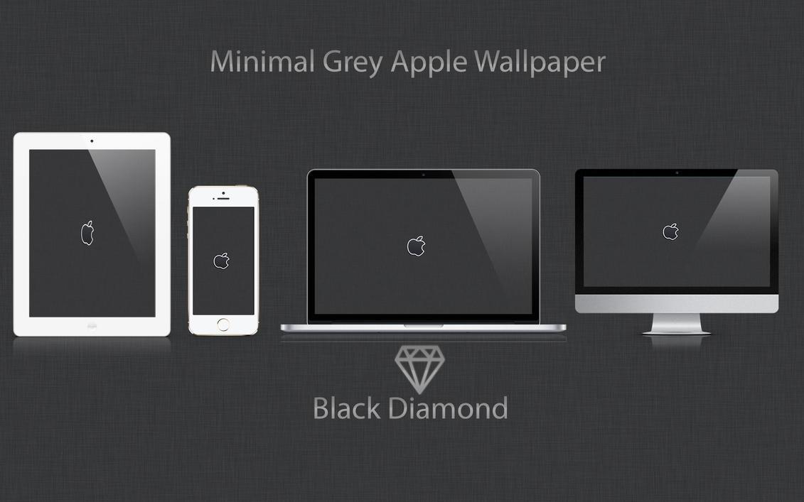 Simple Wallpaper Macbook Minimalist - minimal_grey_apple_wallpaper_by_blackdiamondone-d6ro1o3  Trends_807753.jpg