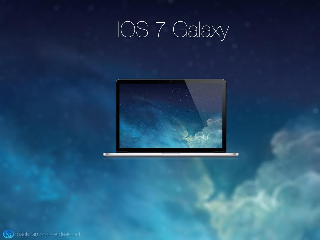 IOS 7 Galaxy by BlackDiamondOne