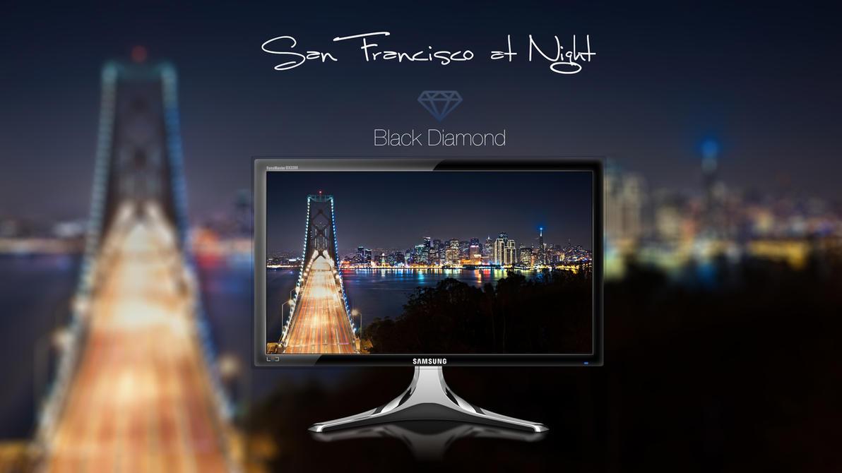 San Francisco At Night by BlackDiamondOne