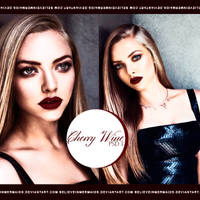PSD#1 - Cherry Wine. by believeinmermaids