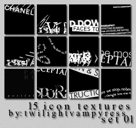 Text Icon Texture Pack 01 by TwilightVampyress