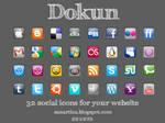 Dokun button social icons