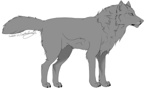 FREE wolf lineart by Spottedfire23