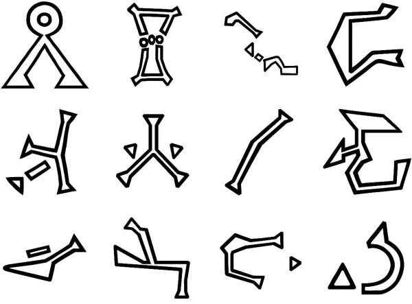 Stargate Symbols Stargate Glyphs...