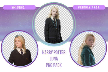 Harry Potter Luna PNG Pack by Weirdly-PNGS