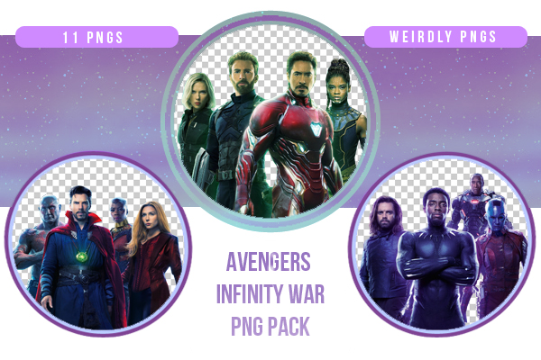 Avengers Infinity War PNG Pack by Weirdly-PNGS