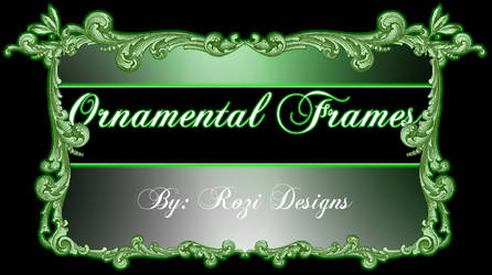 Ornamental Frames psd