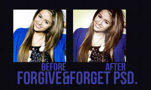 forgive and forget PSD. by awesomemileyray