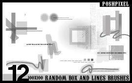 12 Random Box and Lines by iskandarz