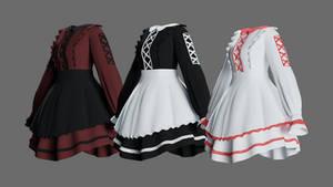 [MMD] Lolita Maid Dress P2U DL