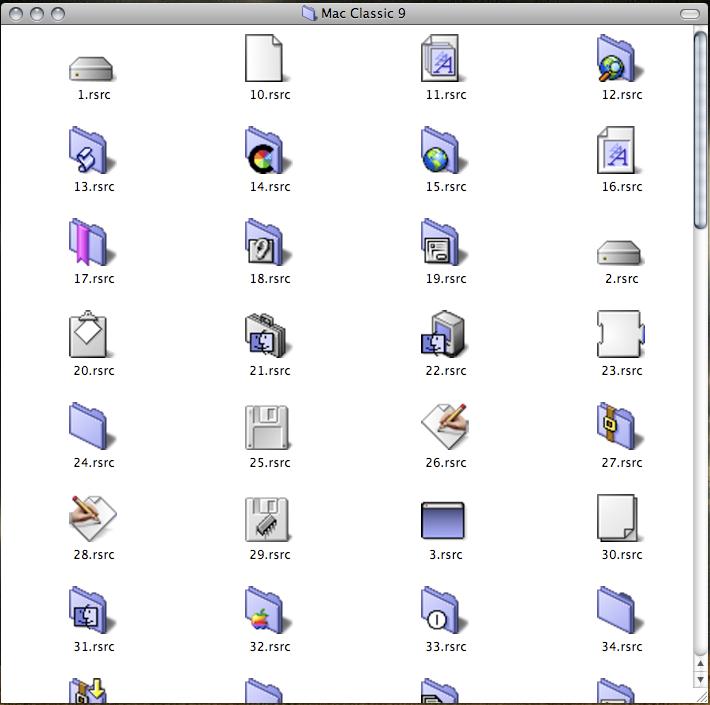 Mac OS 9 icons for OSX by NazoraioiSkadinaujo