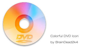 Colorful DVD Icon by BrainDead2k4