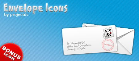 Envelope Icons by projectDC