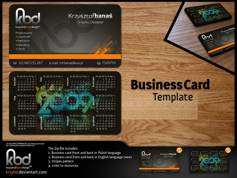 Business Card Template By Krzyho On DeviantArt - Photoshop business card template