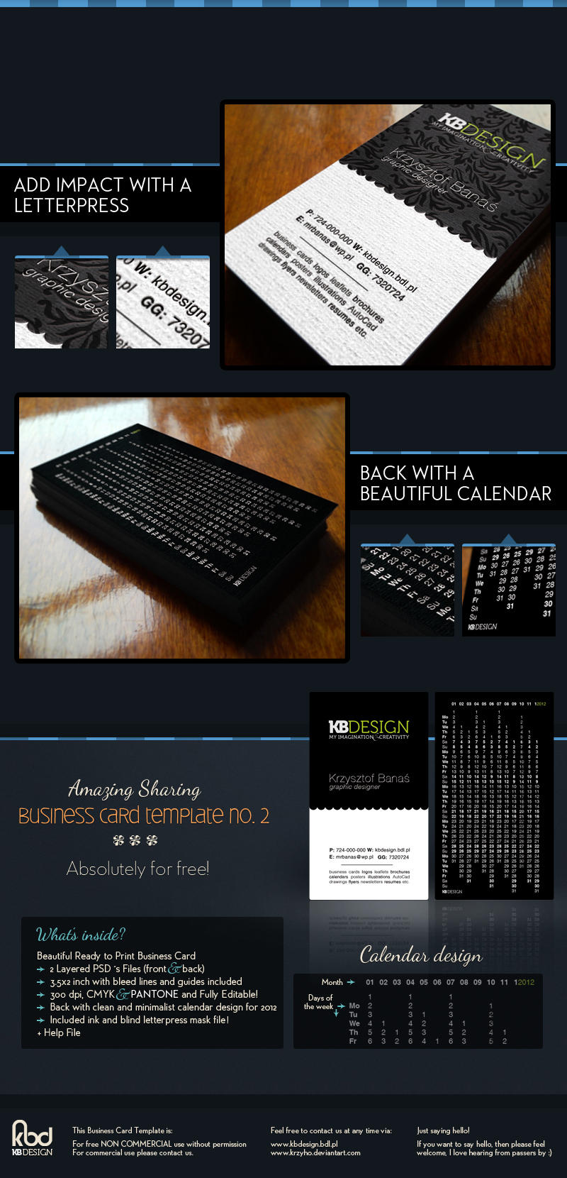 Business Card Template no.2 by Krzyho