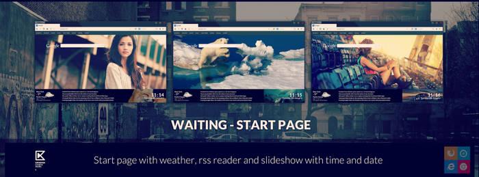 Waiting - start page