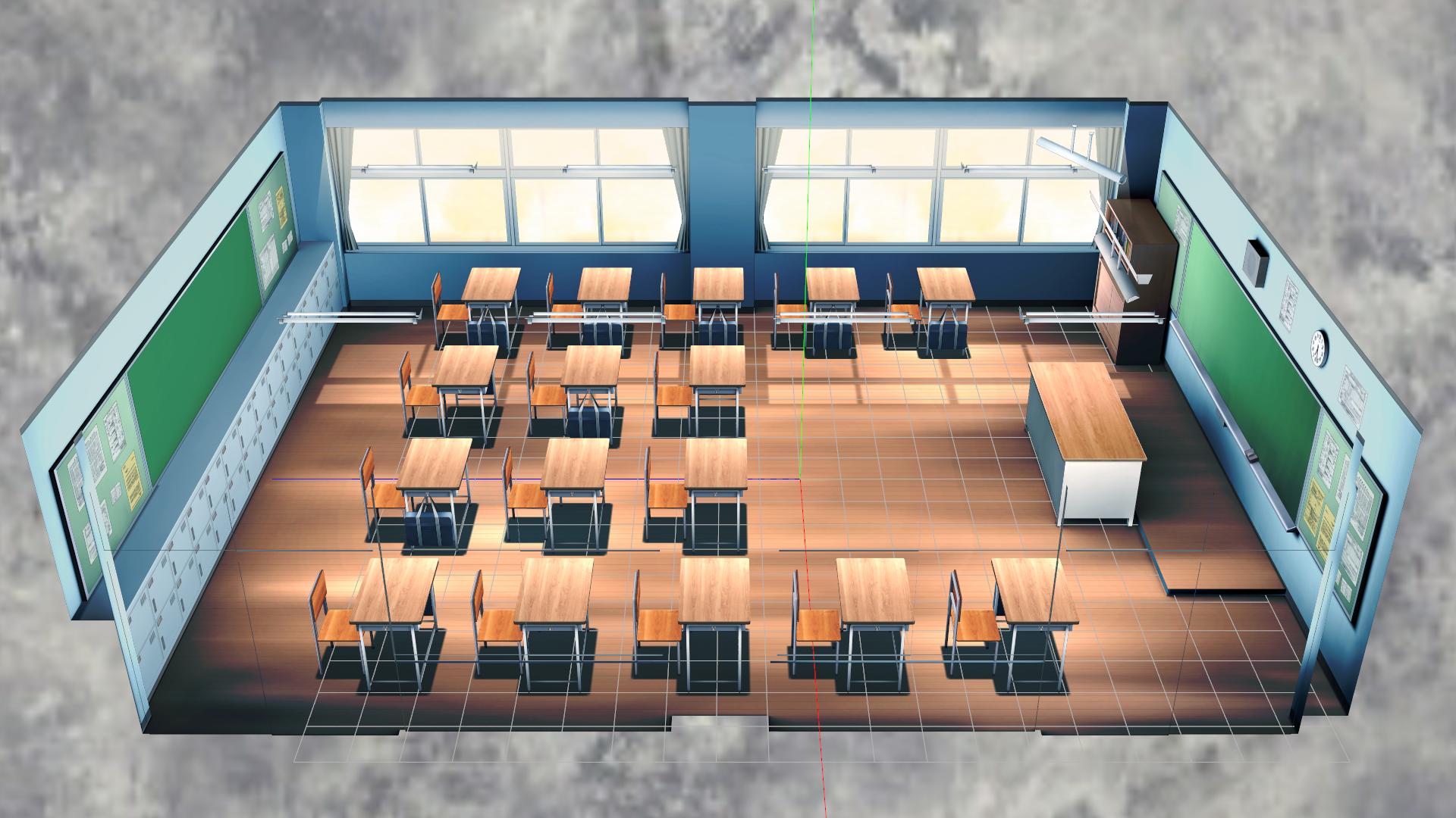 [DL] MMD School Classroom 2 Stage by Maddoktor2