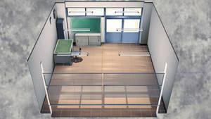 [DL] MMD Empty School Office Stage