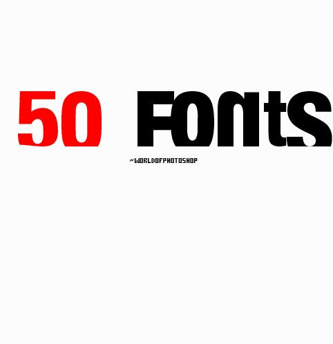 Fonts by worldofphotoshop