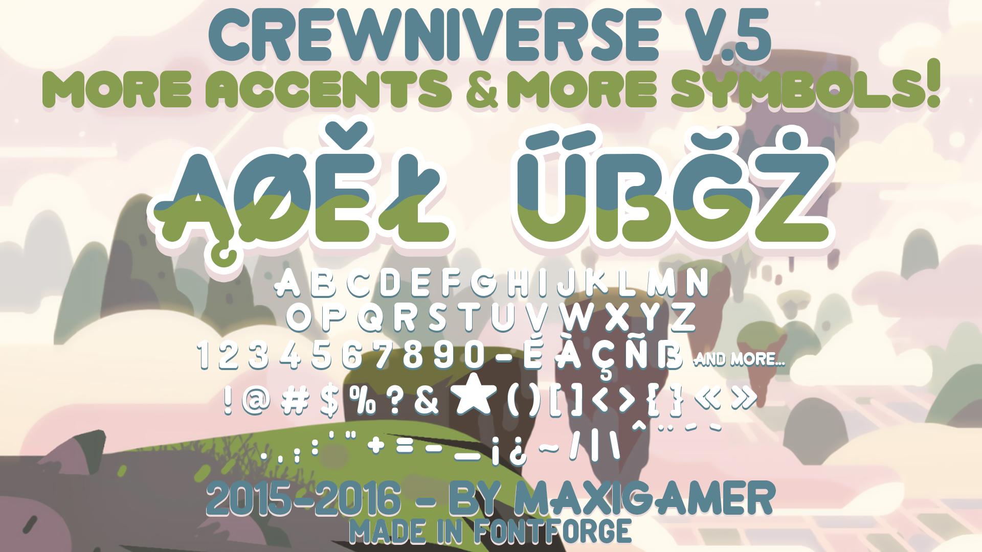 Crewniverse Font V.5 (MORE ACCENTS AND SYMBOLS!)
