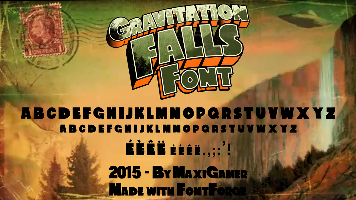 Gravitation falls font download now