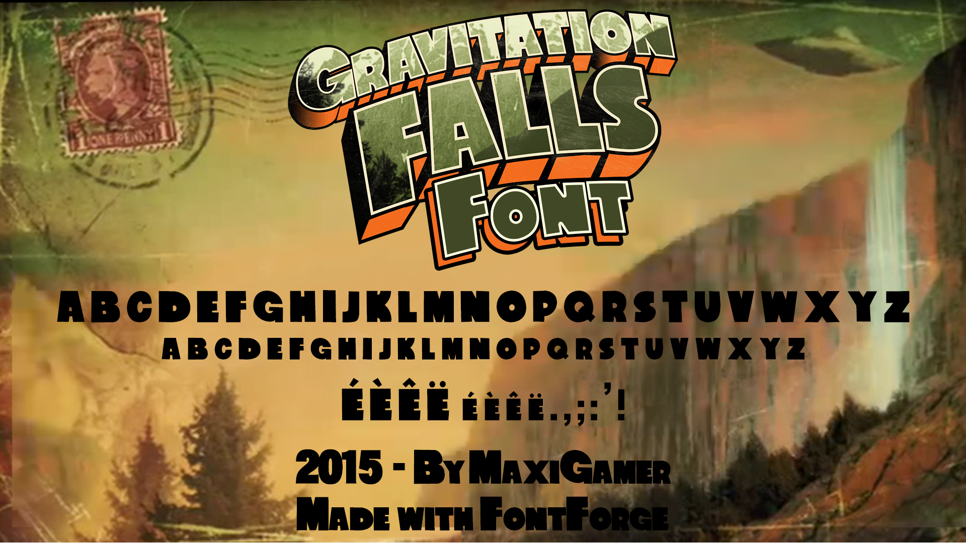 Gravitation Falls FONT (Download Now!) by MaxiGamer