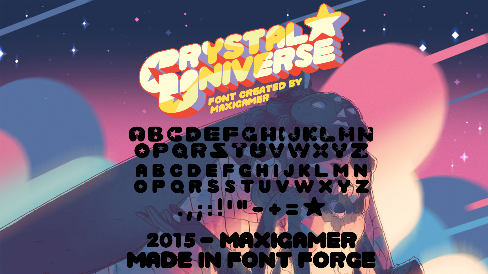 Crystal Universe FONT by MaxiGamer on DeviantArt
