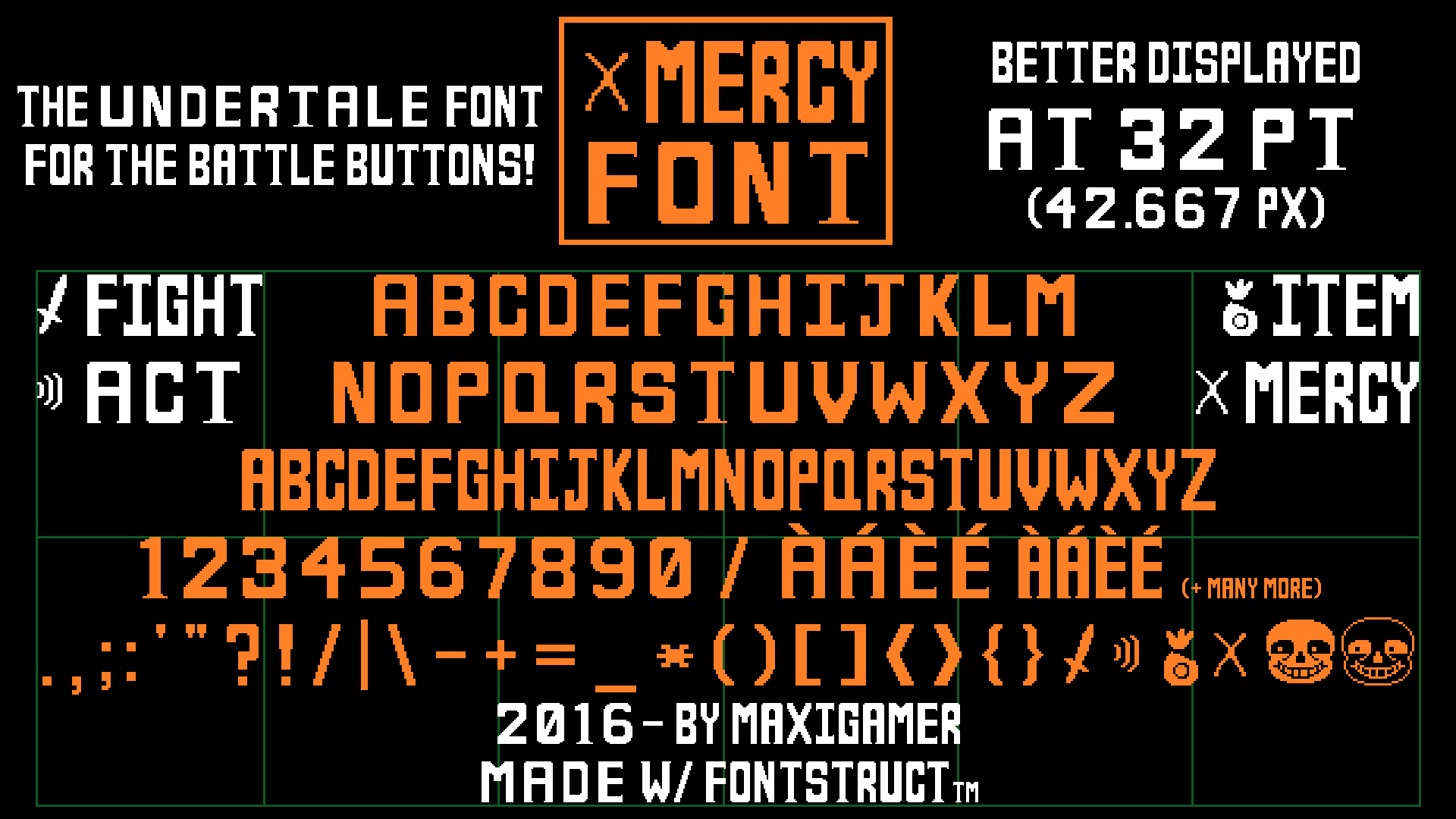 MERCY Font, the UNDERTALE font for battle buttons! by