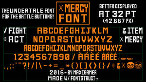MERCY Font, the UNDERTALE font for battle buttons!
