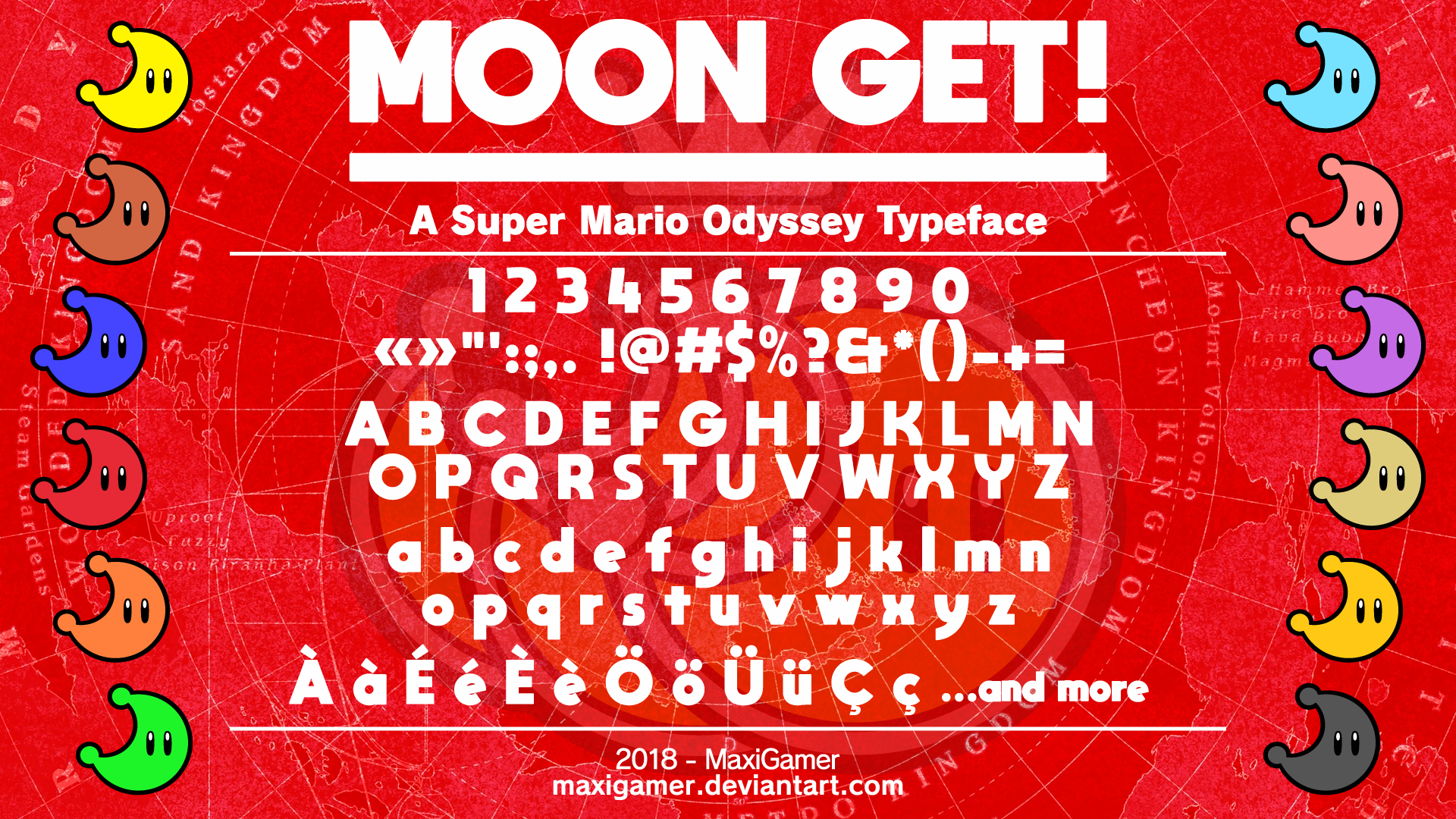 OUTDATED] MOON GET!: A Super Mario Odyssey Font by MaxiGamer